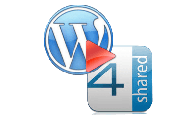 Playlist WordPress com 4Shared